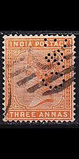 Buy INDIEN INDIA [1882] MiNr 0036 a ( O/used ) [01] perfin