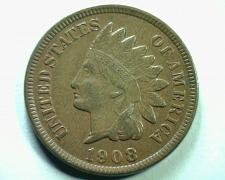 Buy 1908 INDIAN CENT PENNY ABOUT UNCIRCULATED AU NICE ORIGINAL COIN FROM BOBS COINS