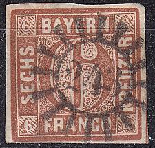 Buy GERMANY Bayern Bavaria [1850] MiNr 0004 II ( O/used ) [02]