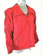 Buy ROSE womens Sz XL Long RUCHED sleeve red full zip 2 pocket LINED jacket (A6)P