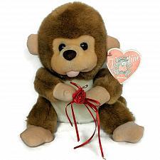 "Buy NWT Kuddle Me Toys Valentine Brown Monkey Plush with Flower Stuffed Animal 10"""