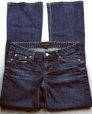 Buy Banana Republic Women's Jeans Size 4S Boot Cut Solid Blue Stretch