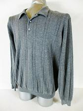 Buy FIELD GEAR mens Large tall L/S gray 100% cotton POLO GOLF sweater (A7)