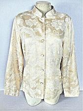 Buy BELONGINGS womens Medium L/S yellow WHITE EMBROIDERED button down jacket (Y)