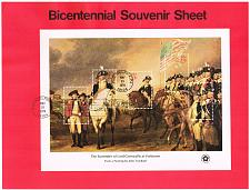 Buy US #SP413 (1686) Bicentennial Sheet USPS Souvenir Page (3Stars) |SP0413-01