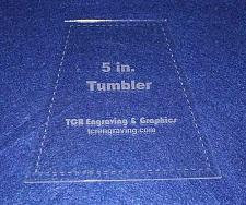 "Buy 5"" Tumbler Quilt Template - With Seam Allowance -Clear 1/8"" Acrylic"