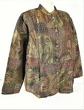 Buy TUDOR COURT womens XL L/S brown TAPESTRY button down 2 side pocket jacket (B3)