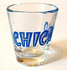 "Buy Chicago Blue Letters 2.25"" Collectible Shot Glass"