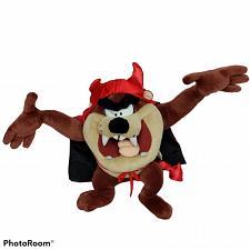 "Buy Looney Tunes Taz Tasmanian Devil Valentines Horns Fork Tail Plush 2003 13.5"""