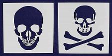 "Buy 2 Piece Set Skull & Skull & Bones Stencils 14 Mil 16"" X 16"" Painting /Crafts/ Te"