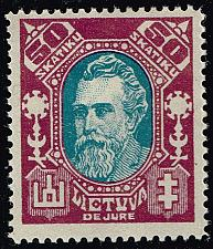 Buy Lithuania #116B Jonas Basanavicius; Unused (3Stars) |LIT0116B-01XRP