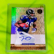 Buy 🏈 NFL TANDON DOSS BALTIMORE RAVENS AUTOGRAPHED 2011 PANINI GOLD STANDARD /499