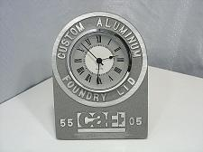 Buy ⭐Aluminum Foundry Clock Custom Cast Anniversary CAF Industrial Steampunk WORKS⭐
