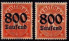 Buy GERMANY REICH Dienst [1923] MiNr 0095 X, Y ( **/mnh )