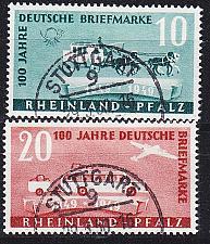 Buy GERMANY Alliiert Franz. Zone [RheinlPfalz] MiNr 0049-50 ( O/used ) [01] geprüft