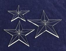 """Buy Star Template 3 Piece Set. 8"""",10"""",12"""" - Clear 1/4"""" Thick w/ Guidelines & Center"""