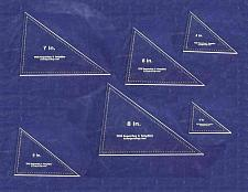 """Buy Triangle Templates. 3"""", 4"""", 5"""", 6"""", 7"""", 8"""" - Clear 1/8"""""""