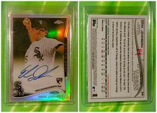 Buy MLB ERIC JOHNSON WHITE SOX AUTOGRAPHED 2014 TOPPS CHROME ROOKIE REFRACTOR /499