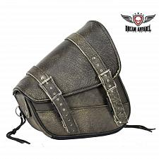 Buy Motorcycle Solo Swing Arm Right Side Bag Distressed Brown Leather Universal Fit