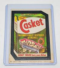 Buy VINTAGE 198O Topps Wacky Packages CASKET DON'T WASH BURY YOUR DISHES #143 NMNT