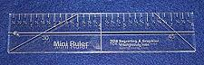 "Buy 8"" Mini Ruler --Template 3/8""- Clear Acrylic - Quilting/sewing"