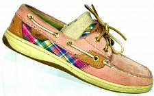 Buy Sperry Top Sider Womens Dusty Rose Pink Plaid Lace Up Boat Deck Shoes 7 M