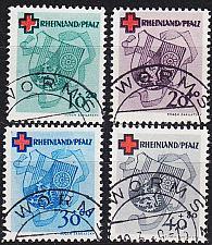 Buy GERMANY Alliiert Franz. Zone [RheinlPfalz] MiNr 0042-45 A ( O/used )