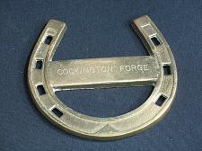 Buy Vintage Brass Cockington Forge Horseshoe Good Luck Collectible Horse Shoe