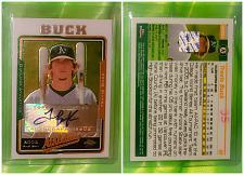 Buy MLB TRAVIS BUCK OAKLAND ATHLETICS AUTOGRAPHED 2005 TOPPS CHROME MNT