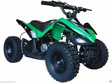 Buy Electric Four Wheeler Kids ATV Green Mini Quad Dirt Bike Ride On Electric Batter