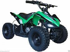 Buy Electric Four Wheeler Kids ATV Green Mini Quad Dirt Bike Ride On Electric Batter