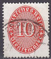 Buy GERMANY REICH Dienst [1927] MiNr 0123 X ( O/used ) [02]