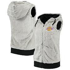Buy New Los Angeles Lakers Antigua Women Rant Hooded Full-Zip Vest Fast Free Ship