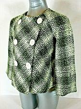 Buy SIGNATURE by LARRY LEVINE womens Sz 2P L/S green white BUTTON DOWN jacket (A4)
