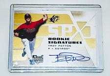 Buy MLB TROY PATTON HOUSTON ASTROS AUTOGRAPHED 2008 UPPER DECK SPX RC MINT
