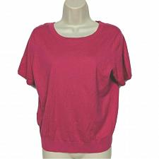 Buy Ann Taylor Petite Blouse Top Size LP Solid Pink Back Tie Short Sleeve