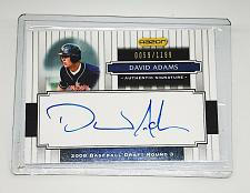 Buy MLB DAVID ADAMS AUTOGRAPHED 2008 RAZOR DRAFT PICKS #130 MINT