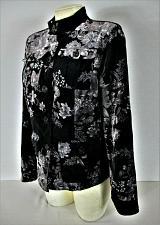 Buy COVINGTON womens Medium (10-12) L/S black gray white VELVET lined jacket (E)P