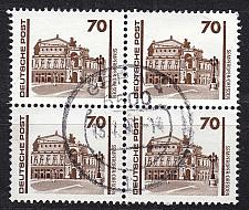 Buy GERMANY DDR [1990] MiNr 3348 4er ( OO/used ) [01] Bauwerke