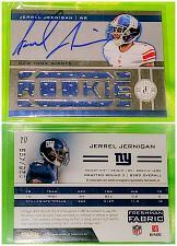 Buy NFL Jerrel Jernigan Giants Autographed 2012 Panini 10 piece Jersey Relic /499