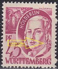 Buy GERMANY Alliiert Franz. Zone [Württemberg] MiNr 0009 vv II ( **/mnh )