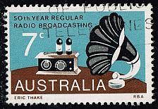 Buy Australia #588 Broadcasting; Used (0.25) (2Stars) |AUS0588-03XBC