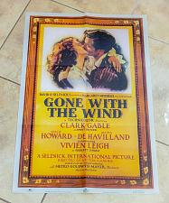 "Buy Vintage 1983 MGM Studios Official Gone With The Wind Repro 22""x32"" Poster RARE"