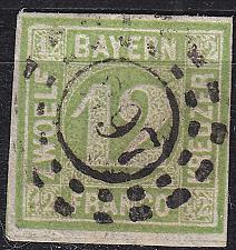 Buy GERMANY Bayern Bavaria [1862] MiNr 0012 ( O/used ) [01]