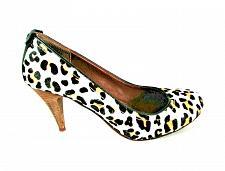 Buy Calvin Klein Black Tan Leopard Print Cow Fur Pumps Heels Shoes Women's 7 (SW5)