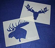 """Buy Moose Head Stencils -Mylar 2 Pieces of 14 Mil 8"""" X 10"""" - Painting /Crafts/ Templ"""