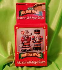 Buy Nutcraker Salt & Pepper Shakers Holiday Magic American Greetings New Retail Box