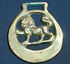 Buy Vintage Horse Brass Harness Medallion Ornament Lion Shield Crest