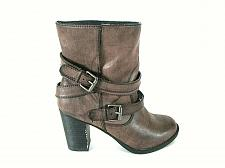 Buy Crown Vintage Brown Harness Buckle Zip Ankle Boots Shoes Women's 6.5 M (SW16)pmg