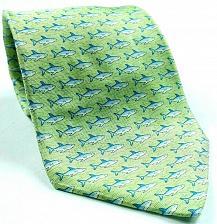 Buy Tommy Hilfiger Shark Print Animal Fish Ocean Sea Nautical Green Novelty Silk Tie
